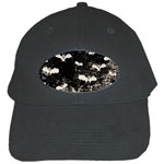 Vintage Halloween Bat pattern Black Cap Front