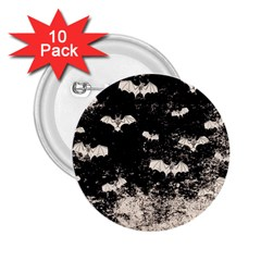 Vintage Halloween Bat Pattern 2 25  Buttons (10 Pack)  by Valentinaart