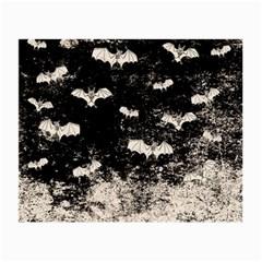 Vintage Halloween Bat Pattern Small Glasses Cloth by Valentinaart