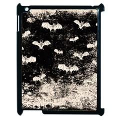 Vintage Halloween Bat Pattern Apple Ipad 2 Case (black) by Valentinaart