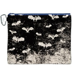 Vintage Halloween Bat Pattern Canvas Cosmetic Bag (xxxl) by Valentinaart