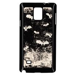 Vintage Halloween Bat Pattern Samsung Galaxy Note 4 Case (black) by Valentinaart