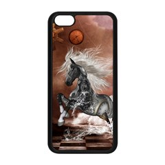 Steampunk, Awesome Steampunk Horse With Clocks And Gears In Silver Apple Iphone 5c Seamless Case (black) by FantasyWorld7