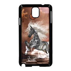 Steampunk, Awesome Steampunk Horse With Clocks And Gears In Silver Samsung Galaxy Note 3 Neo Hardshell Case (black) by FantasyWorld7