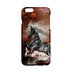 Steampunk, Awesome Steampunk Horse With Clocks And Gears In Silver Apple Iphone 6/6s Hardshell Case by FantasyWorld7