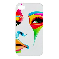 Colourful Art Face Apple Iphone 4/4s Premium Hardshell Case by MaryIllustrations