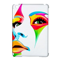 Colourful Art Face Apple Ipad Mini Hardshell Case (compatible With Smart Cover) by MaryIllustrations