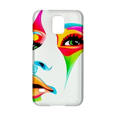 Colourful Art Face Samsung Galaxy S5 Hardshell Case  by MaryIllustrations