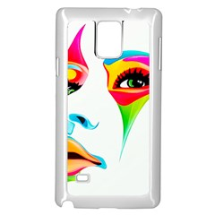 Colourful Art Face Samsung Galaxy Note 4 Case (white) by MaryIllustrations