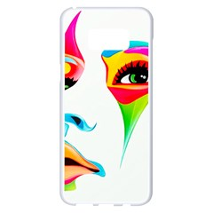Colourful Art Face Samsung Galaxy S8 Plus White Seamless Case by MaryIllustrations