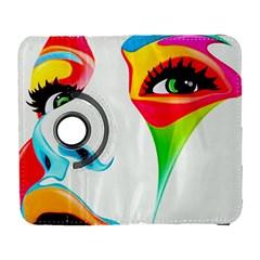 Colourful Art Face Galaxy S3 (flip/folio) by MaryIllustrations