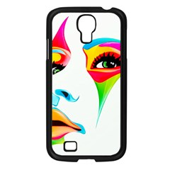 Colourful Art Face Samsung Galaxy S4 I9500/ I9505 Case (black) by MaryIllustrations