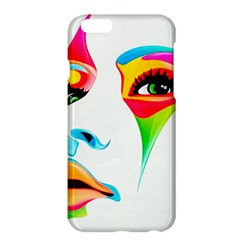Colourful Art Face Apple Iphone 6 Plus/6s Plus Hardshell Case by MaryIllustrations
