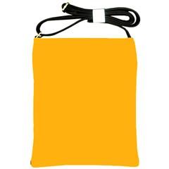 Pale Pumpkin Orange Creepy Hollow Halloween  Shoulder Sling Bags by PodArtist