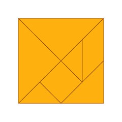 Pale Pumpkin Orange Creepy Hollow Halloween  Acrylic Tangram Puzzle (4  X 4 ) by PodArtist