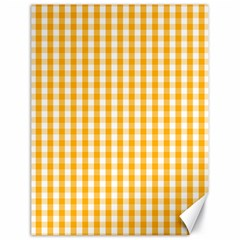 Pale Pumpkin Orange And White Halloween Gingham Check Canvas 18  X 24