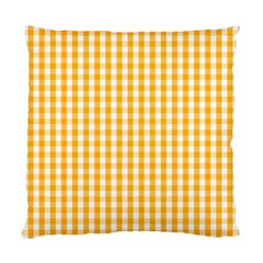 Pale Pumpkin Orange And White Halloween Gingham Check Standard Cushion Case (two Sides) by PodArtist