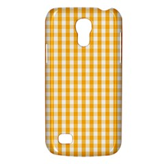 Pale Pumpkin Orange And White Halloween Gingham Check Galaxy S4 Mini by PodArtist