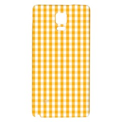 Pale Pumpkin Orange And White Halloween Gingham Check Galaxy Note 4 Back Case by PodArtist