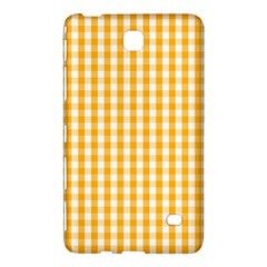 Pale Pumpkin Orange And White Halloween Gingham Check Samsung Galaxy Tab 4 (8 ) Hardshell Case  by PodArtist
