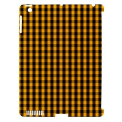 Pale Pumpkin Orange And Black Halloween Gingham Check Apple Ipad 3/4 Hardshell Case (compatible With Smart Cover) by PodArtist