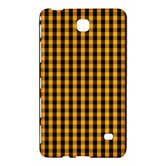 Pale Pumpkin Orange And Black Halloween Gingham Check Samsung Galaxy Tab 4 (7 ) Hardshell Case  by PodArtist