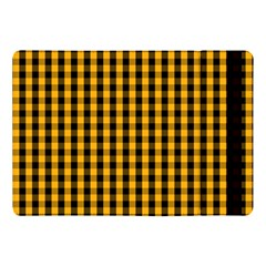 Pale Pumpkin Orange And Black Halloween Gingham Check Apple Ipad Pro 10 5   Flip Case by PodArtist