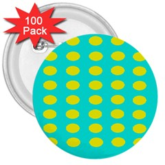 Green And Yellow 3  Buttons (100 Pack)  by NSTP