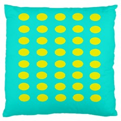 Green And Yellow Large Flano Cushion Case (two Sides) by NSTP