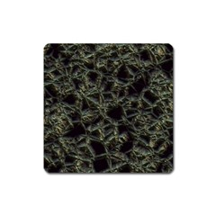 Jagged Stone 2d Square Magnet by MoreColorsinLife