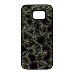 Jagged Stone 2d Samsung Galaxy S7 Edge Black Seamless Case by MoreColorsinLife