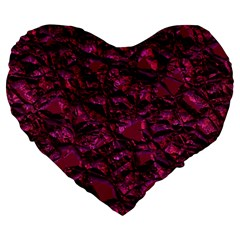 Jagged Stone 2a Large 19  Premium Flano Heart Shape Cushions by MoreColorsinLife