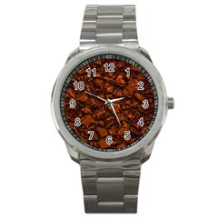 Jagged Stone 2b Sport Metal Watch by MoreColorsinLife