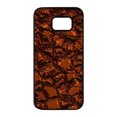Jagged Stone 2b Samsung Galaxy S7 Edge Black Seamless Case by MoreColorsinLife