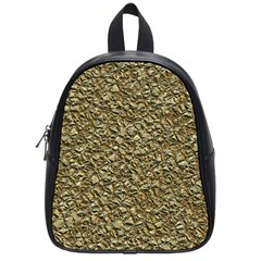 Jagged Stone Golden School Bag (small) by MoreColorsinLife