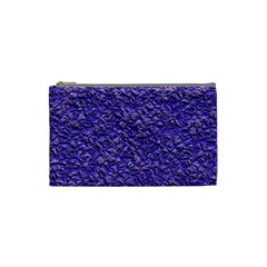 Jagged Stone Blue Cosmetic Bag (small)  by MoreColorsinLife