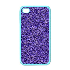 Jagged Stone Blue Apple Iphone 4 Case (color) by MoreColorsinLife
