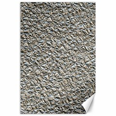 Jagged Stone Silver Canvas 24  X 36  by MoreColorsinLife