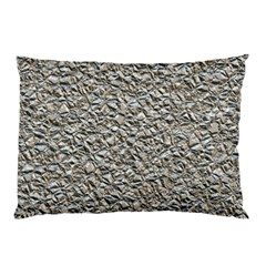 Jagged Stone Silver Pillow Case by MoreColorsinLife