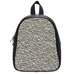 Jagged Stone Silver School Bag (small) by MoreColorsinLife