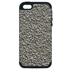 Jagged Stone Silver Apple Iphone 5 Hardshell Case (pc+silicone) by MoreColorsinLife