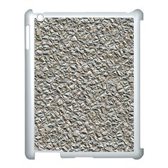 Jagged Stone Silver Apple Ipad 3/4 Case (white) by MoreColorsinLife
