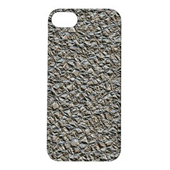 Jagged Stone Silver Apple Iphone 5s/ Se Hardshell Case by MoreColorsinLife