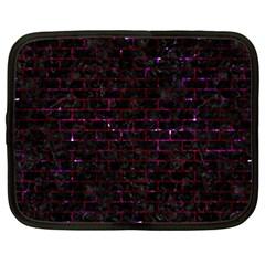 Brick1 Black Marble & Burgundy Marble Netbook Case (xxl)  by trendistuff