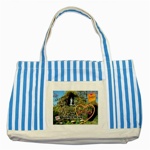 By Jpcool79   Striped Blue Tote Bag   18luhphz2f5n   Www Artscow Com Front