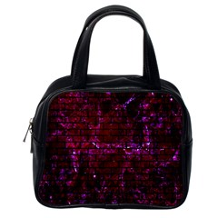 Brick1 Black Marble & Burgundy Marble (r) Classic Handbags (one Side) by trendistuff