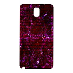 Brick1 Black Marble & Burgundy Marble (r) Samsung Galaxy Note 3 N9005 Hardshell Back Case by trendistuff