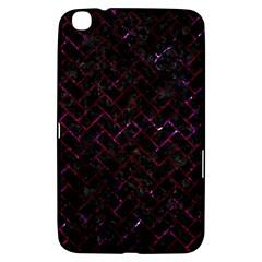Brick2 Black Marble & Burgundy Marble Samsung Galaxy Tab 3 (8 ) T3100 Hardshell Case  by trendistuff