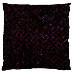 Brick2 Black Marble & Burgundy Marble Standard Flano Cushion Case (two Sides) by trendistuff