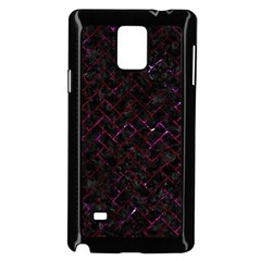 Brick2 Black Marble & Burgundy Marble Samsung Galaxy Note 4 Case (black) by trendistuff